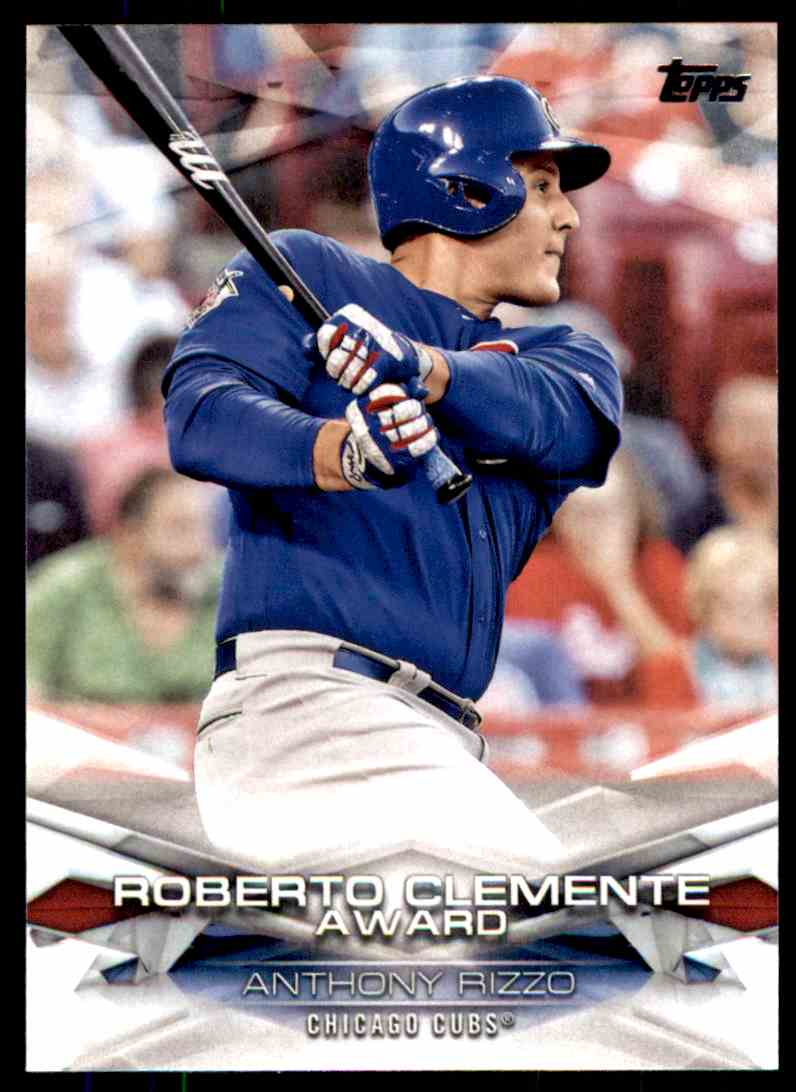 2018 Topps Series 1 Roberto Clemente Award Anthony Rizzo #5 card front image