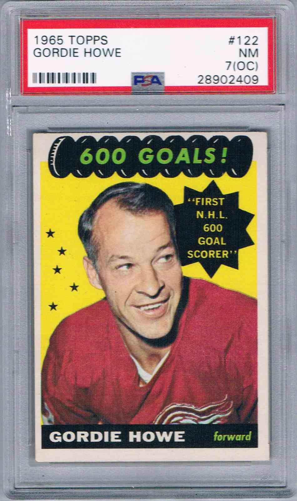 1965-66 Topps Gordie Howe #122 card front image
