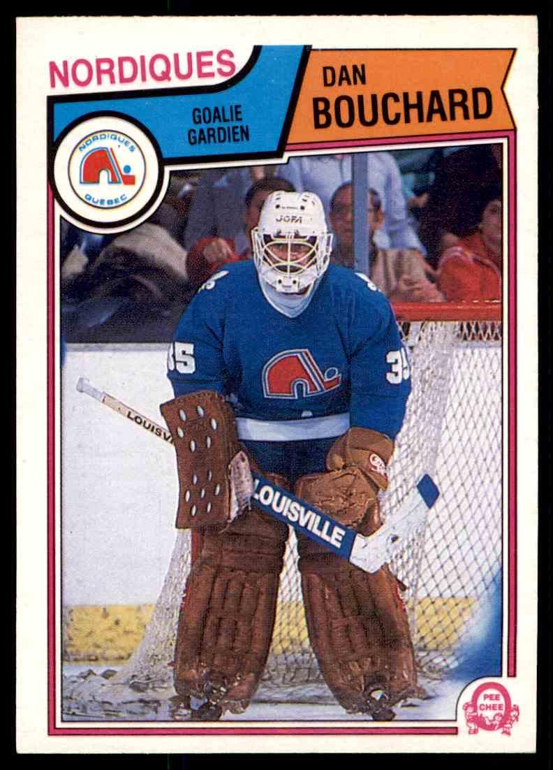 1983-84 O-Pee-Chee Dan Bouchard #290 card front image