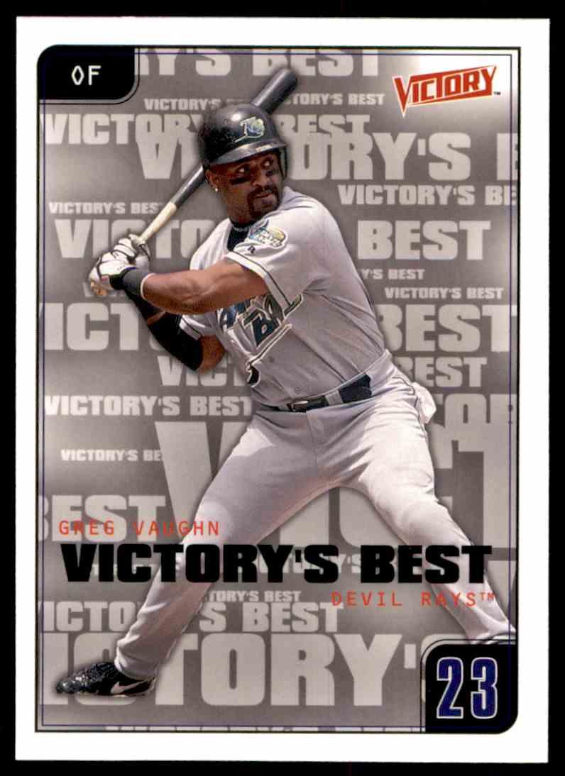 2001 Upper Deck Victory Greg Vaughn Vb #620 card front image