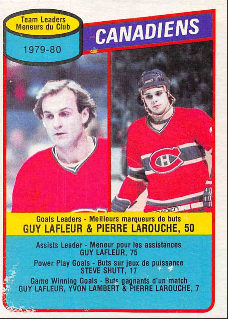1980-81 O-Pee-Chee Guy Lafleur , Pierre Larouche #216 card front image