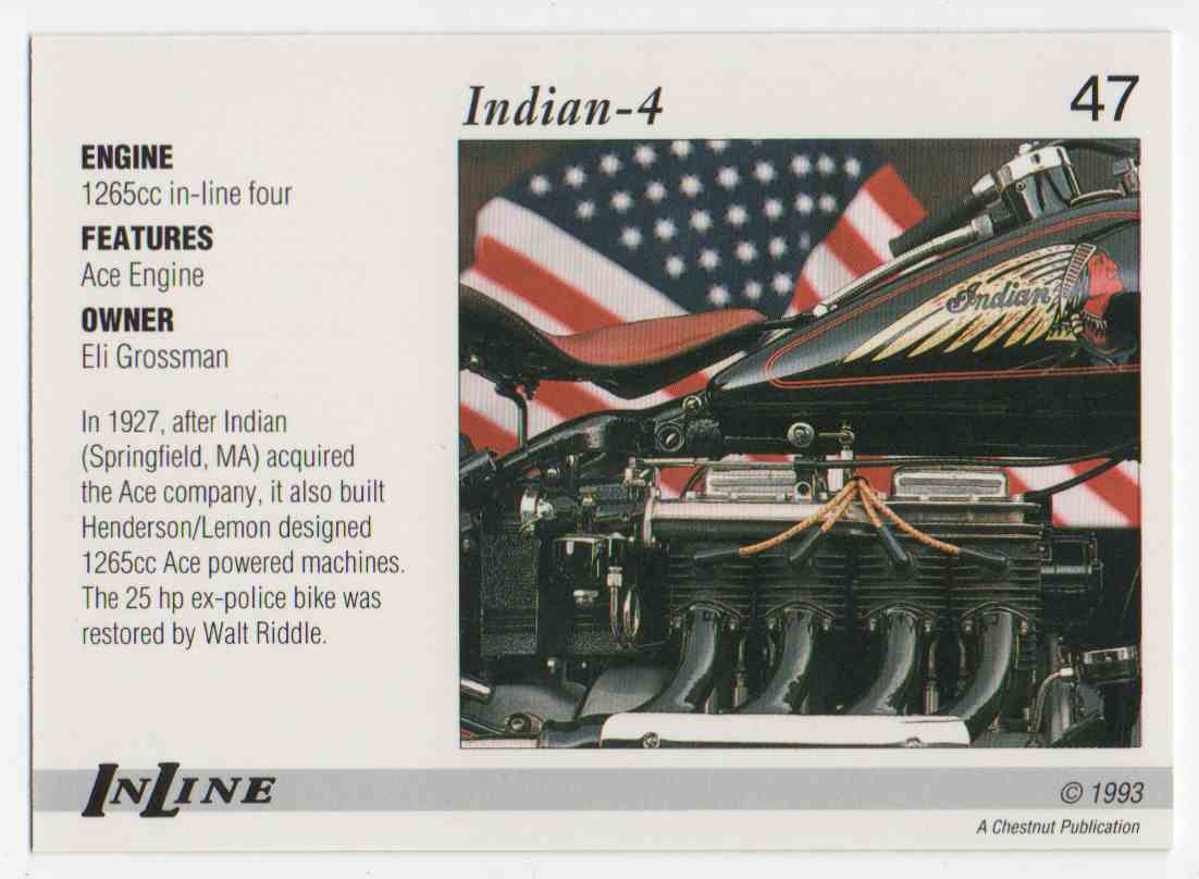 1993 InLine 1935 Indian #47 card back image