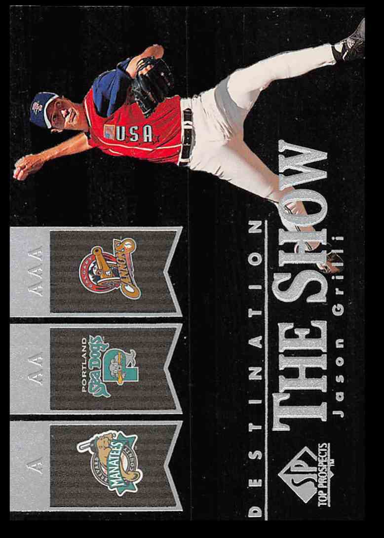 2000 SP Top Prospects Destination The Show Jason Grilli #D19 card front image