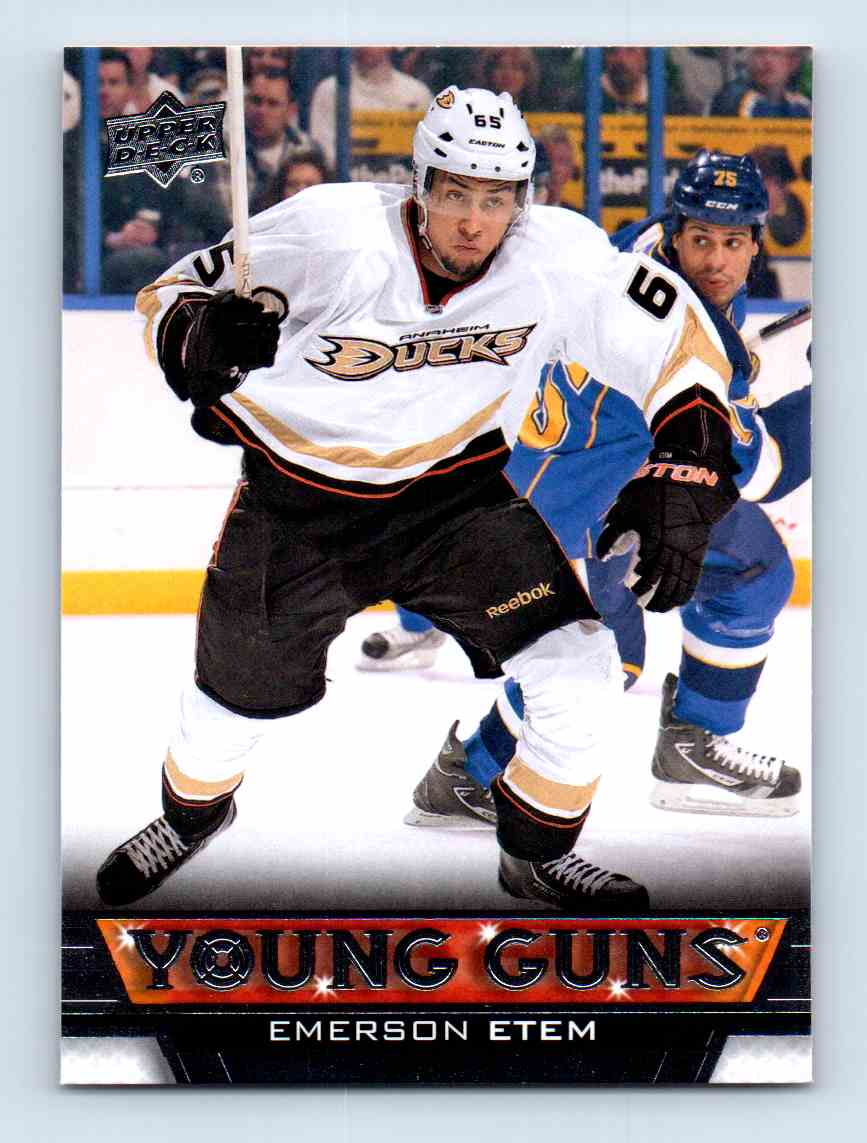 2013-14 Upper Deck Young Guns Emerson Etem #245 card front image