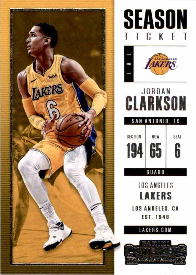 2017-18 Panini Contenders Base Jordan Clarkson #58 card front image