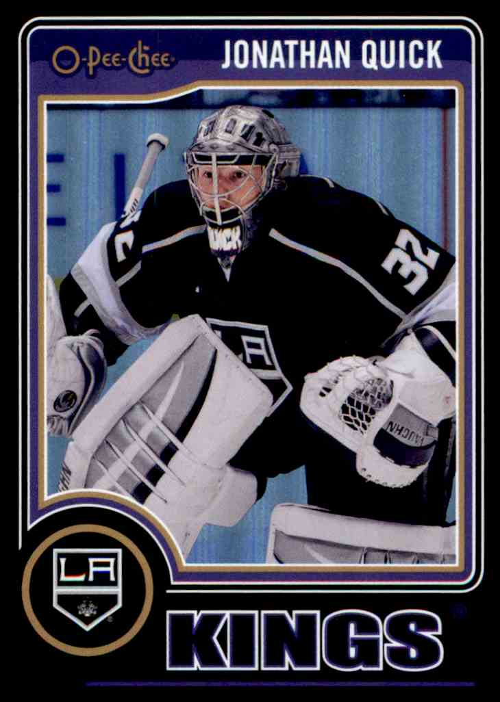 2014-15 O-Pee-Chee Black Rainbow Jonathan Quick #494 card front image