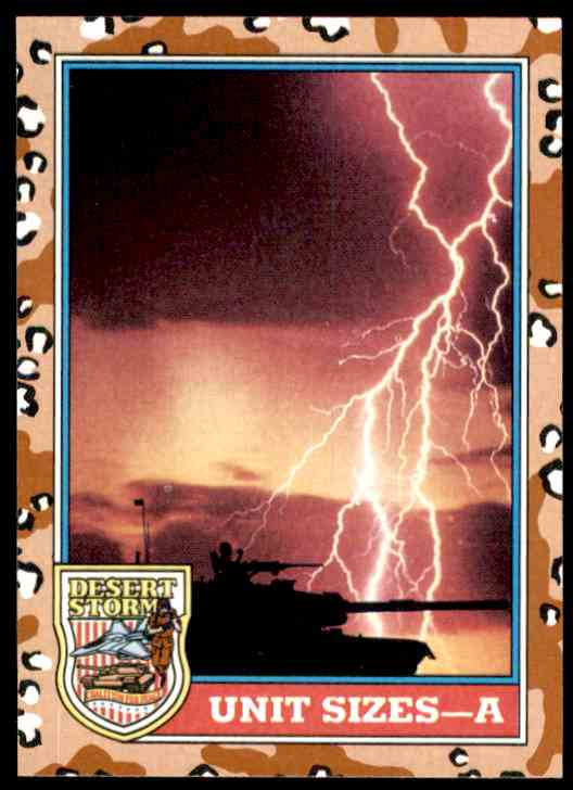 1991 Desert Storm Topps Unit Sizes - A #141 card front image