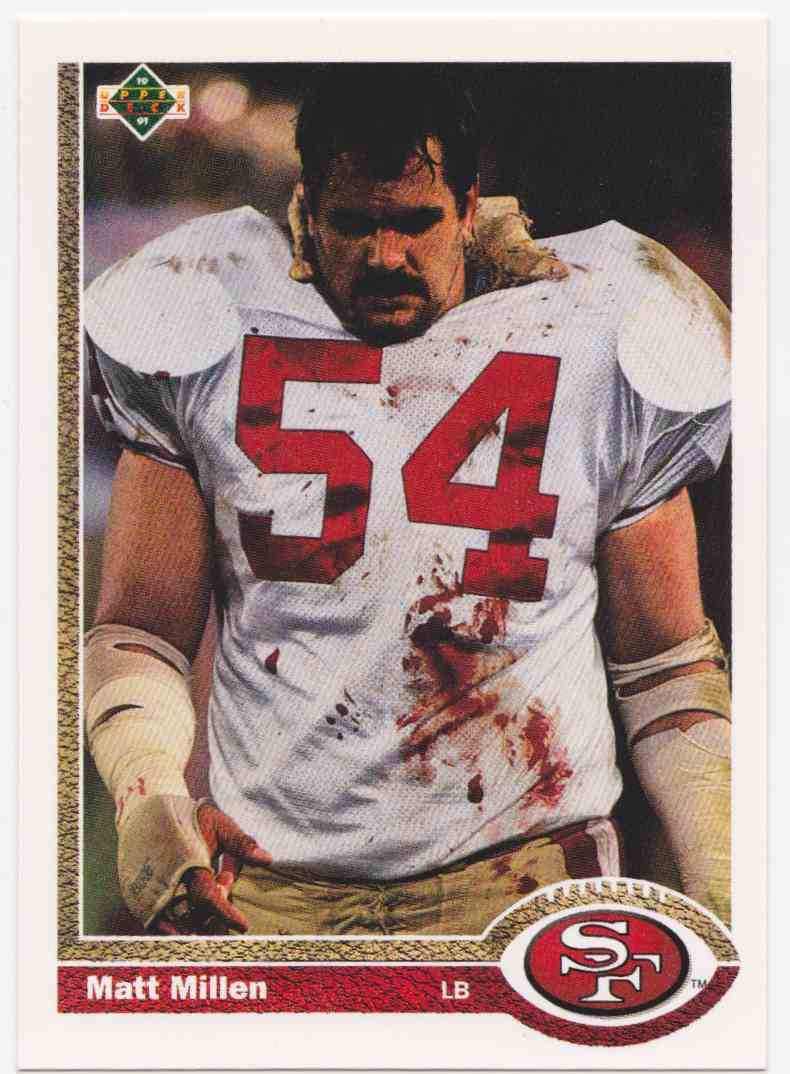 1991 Upper Deck Matt Millen #409 card front image