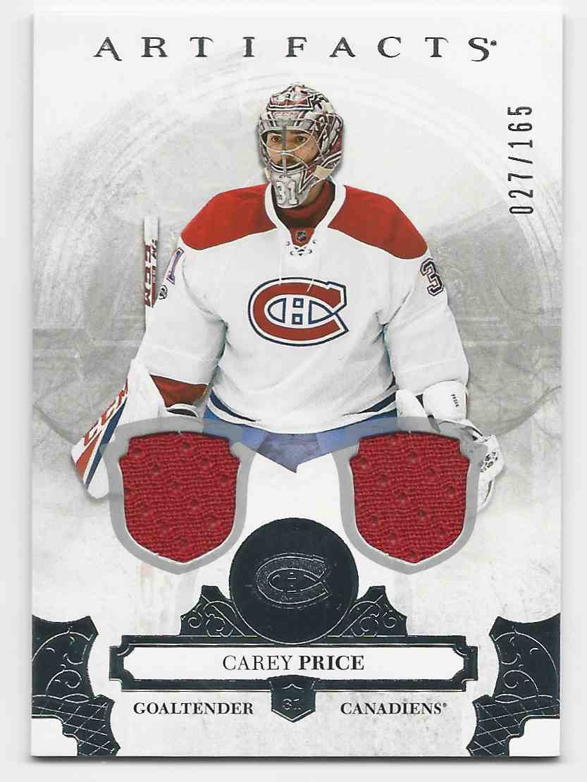 2017-18 Artifacts Materials Silver Carey Price #72 card front image