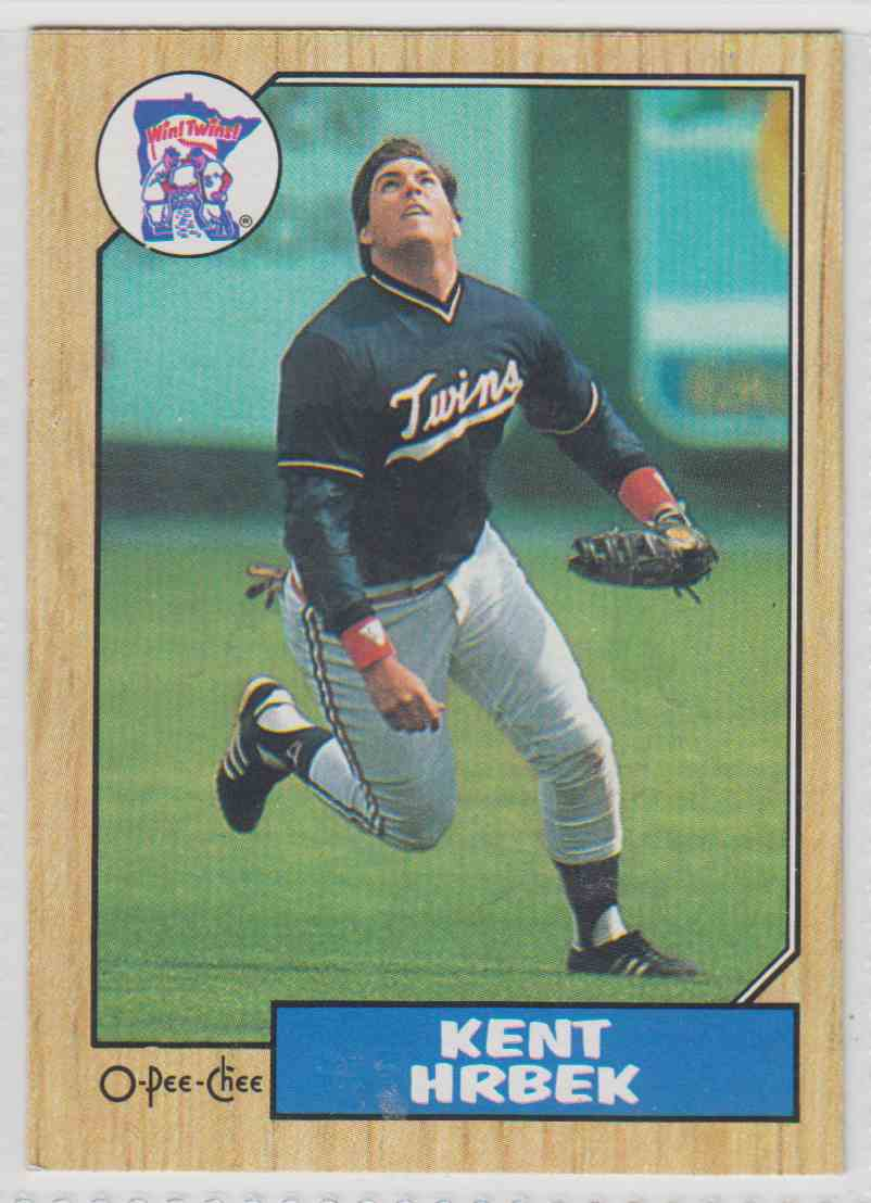 1987 O-Pee-Chee Kent Hrbek #161 card front image