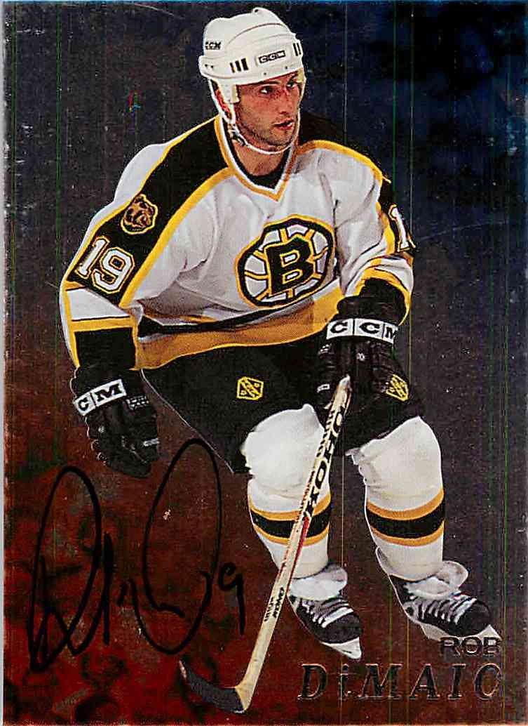 1998-99 In The Game Be A Player Rob Dimaio #7 card front image