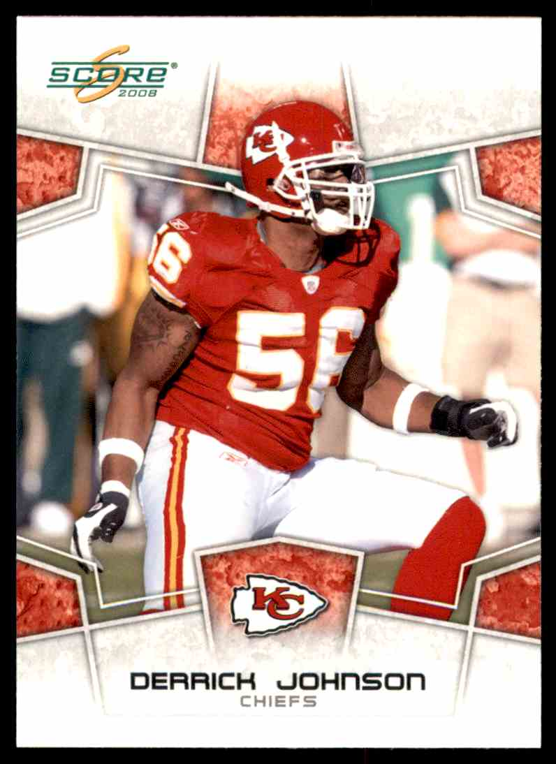 2008 Score Glossy Derrick Johnson #158 card front image
