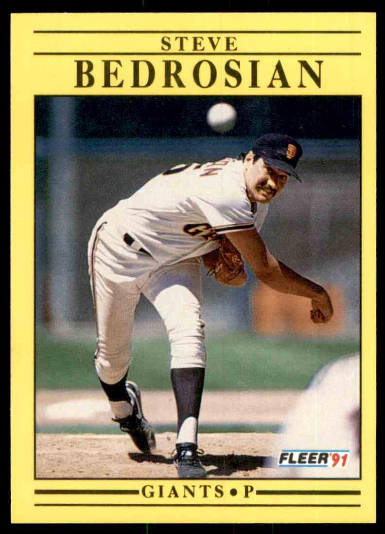 1991 Fleer Steve Bedrosian #254 card front image
