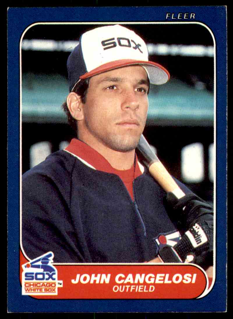 1986 Fleer Update John Cangelosi #U-19 card front image