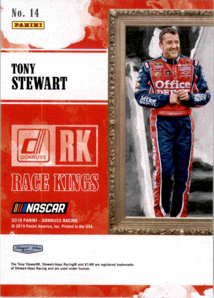 2019 Donruss Tony Stewart Rk #14 card back image