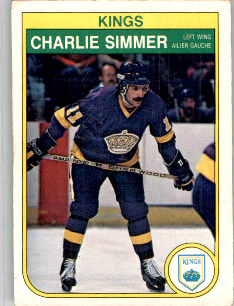 1982-83 O-Pee-Chee Charlie Simmer #159 card front image