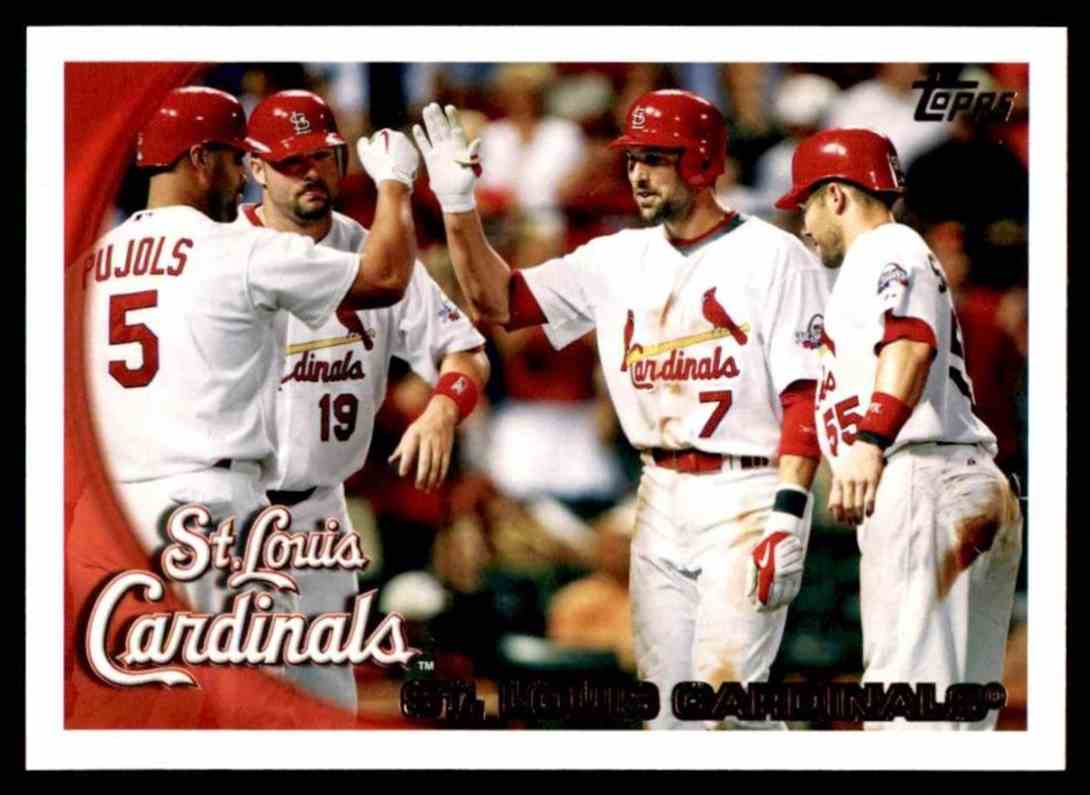 2010 Topps Cardinals Team #232 card front image