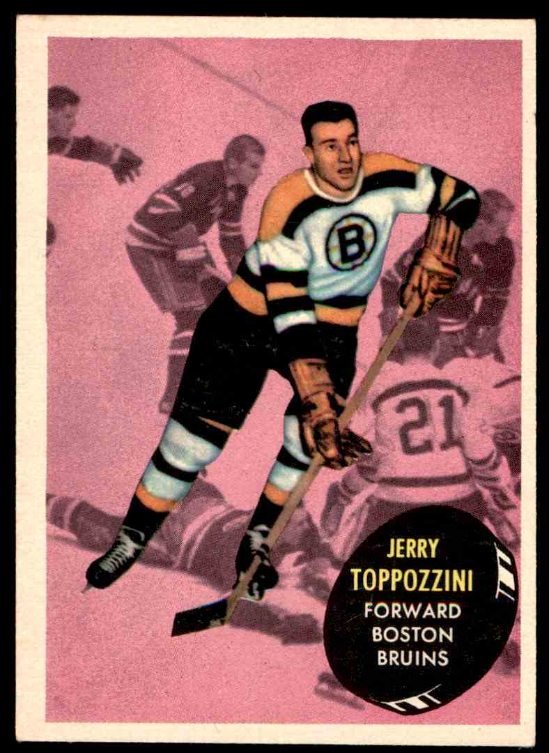1961-62 Topps Jerry Toppazzini #9 card front image
