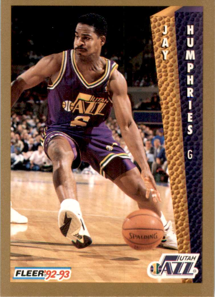 1992-93 Fleer Jay Humphries #435 card front image