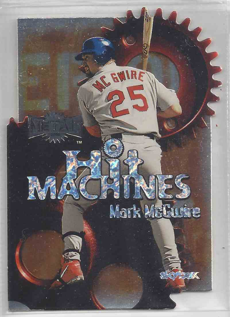 2000 Fleer / Skybox Hit Machines Die Cut Mark McGwire #HM 2 card front image