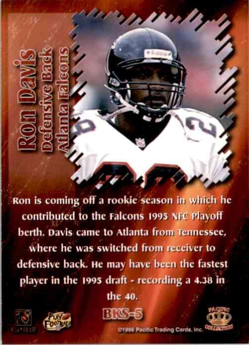 1996 Pacific Dynagon Best Kept Secrets Ron Davis #5 card back image