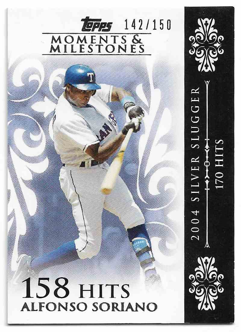 2008 Topps Moments & Milestones Alfonso Soriano #56-158 card front image