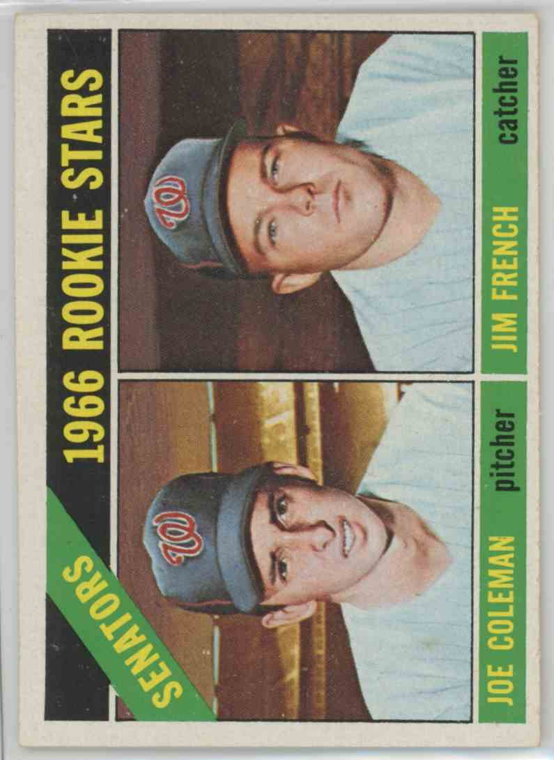 1966 Topps Joe Coleman & Jim French Rookie Stars #333 card front image