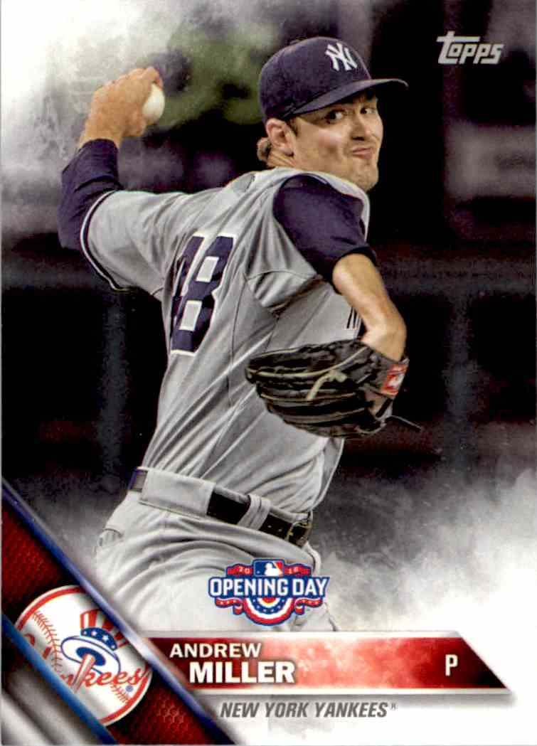 2016 Topps Opening Day Andrew Miller #OD-60 card front image