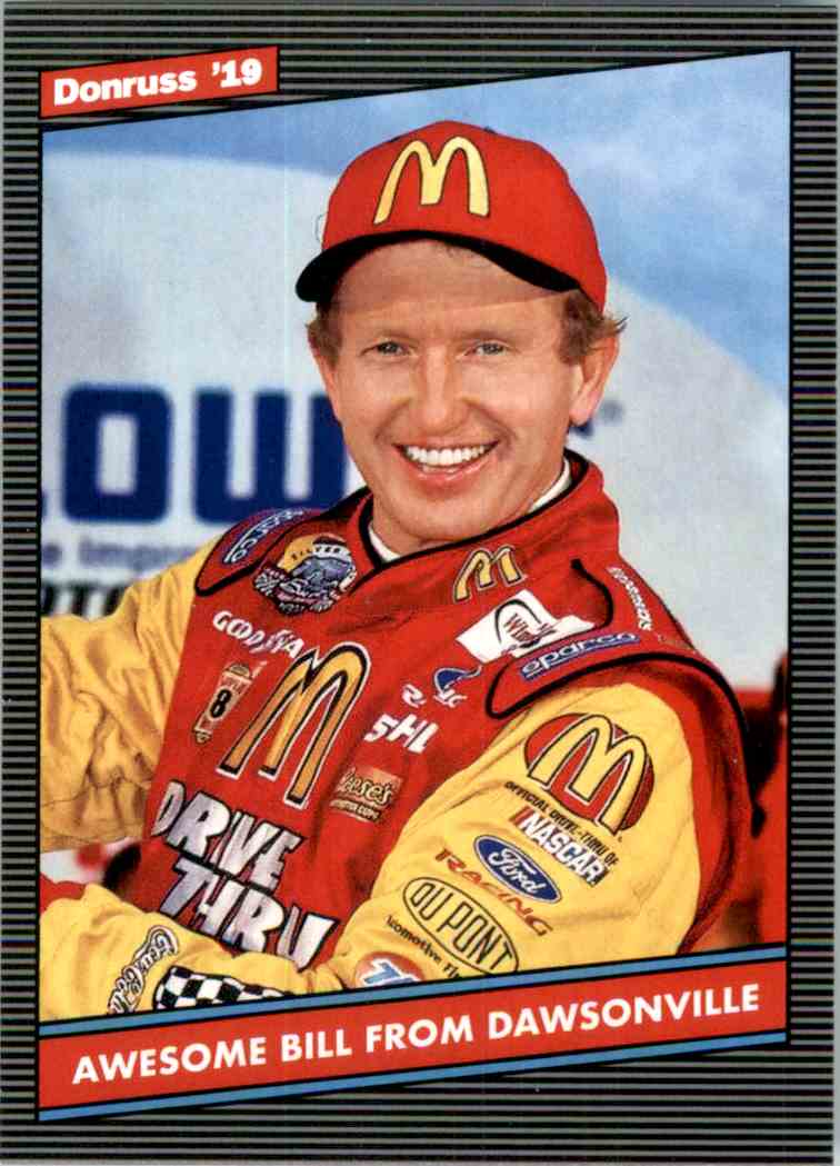 2019 Donruss Silver Bill Elliott Retro #157 card front image