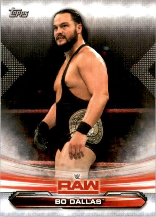 2019 Topps Wwe Raw Bo Dallas #8 card front image