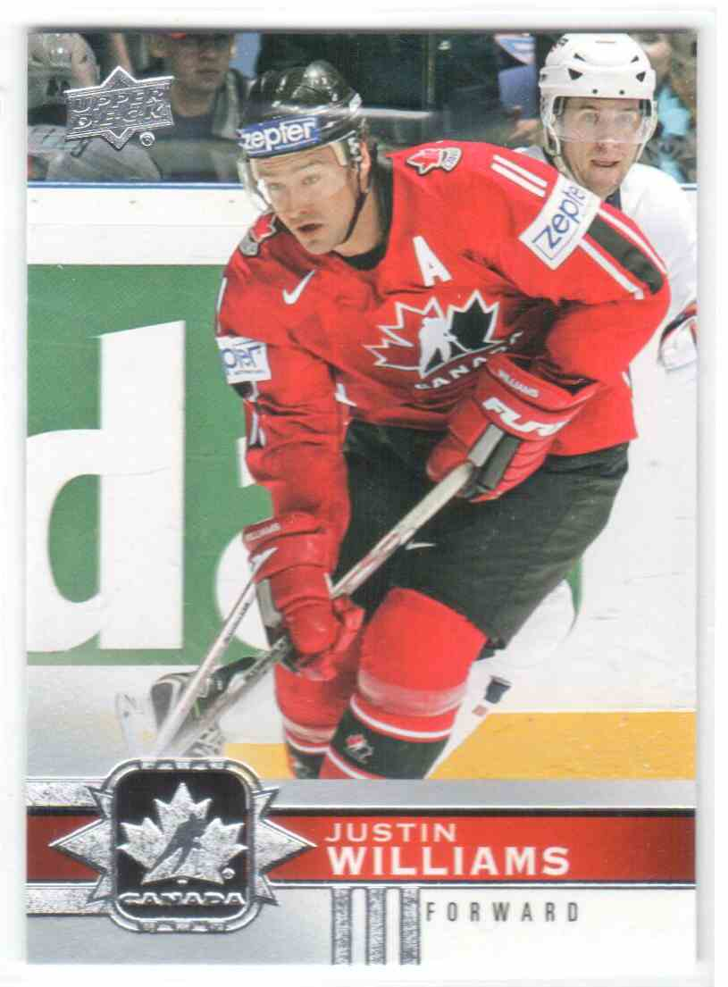 2017-18 Upper Deck Team Canada Canadian Tire Justin Williams #38 card front image