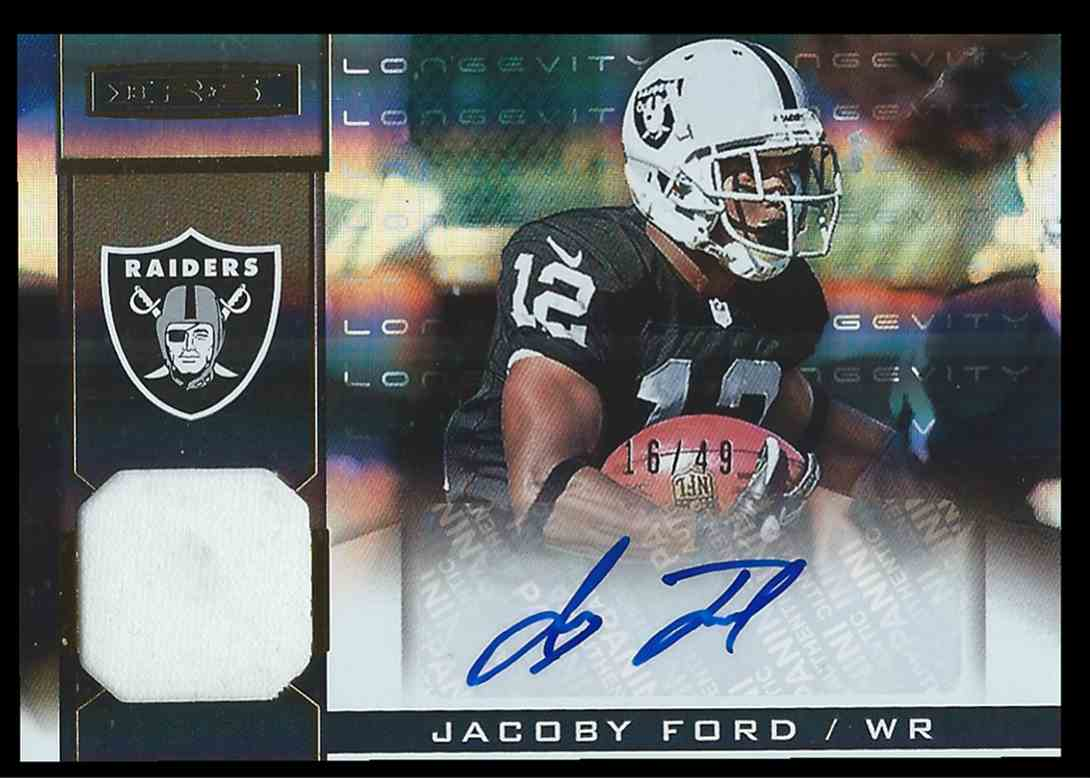 2013 Panini Rookies And Stars Longevity Jacoby Ford #18 card front image