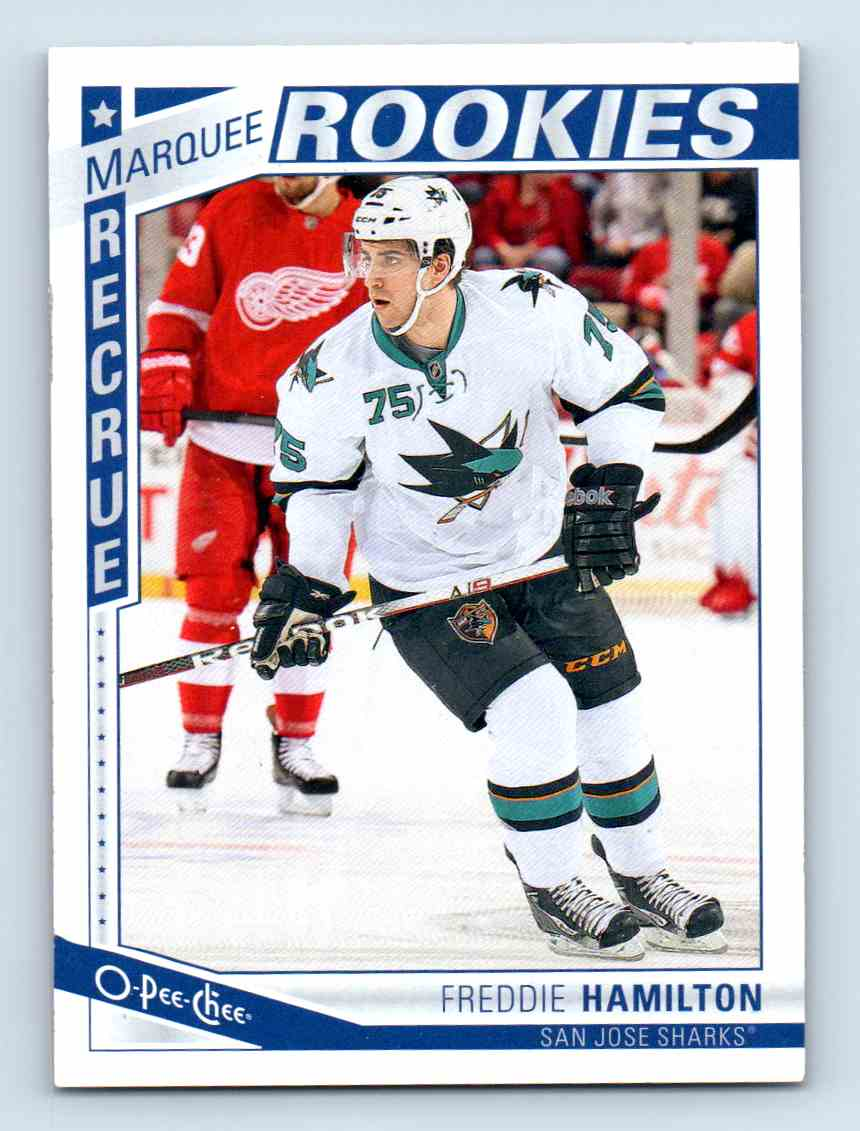 2013-14 O-Pee-Chee Marquee Rookies Freddie Hamilton #618 card front image