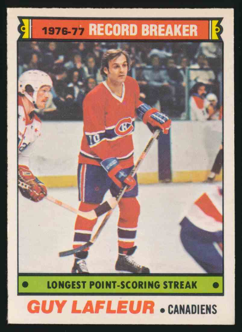 1977-78 O-Pee-Chee Guy Lafleur #216 card front image