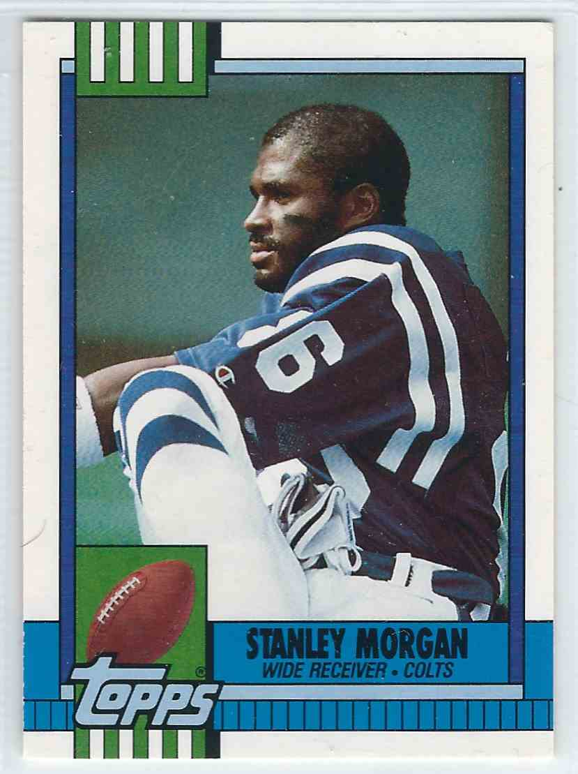 1990 Topps Traded Stanley Morgan #9T card front image