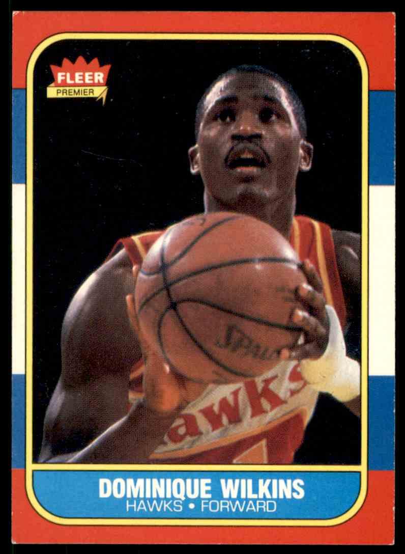 1986-87 Fleer Dominique Wilkins #121 OF 132 card front image