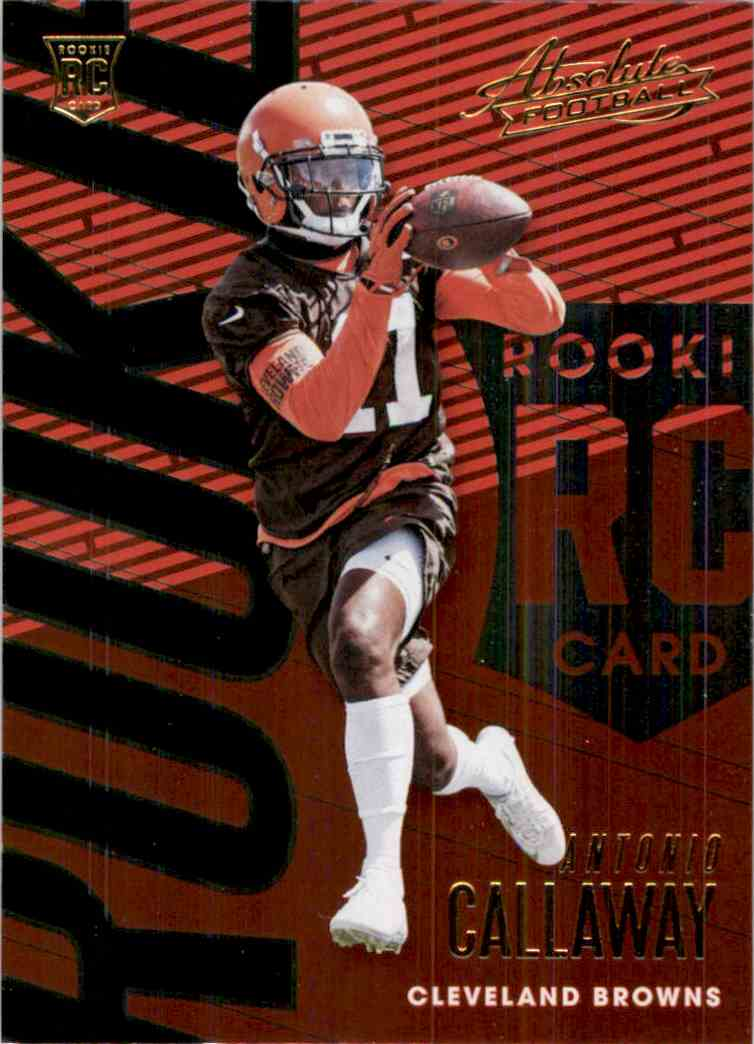 2018 Absolute Antonio Callaway RC #150 card front image