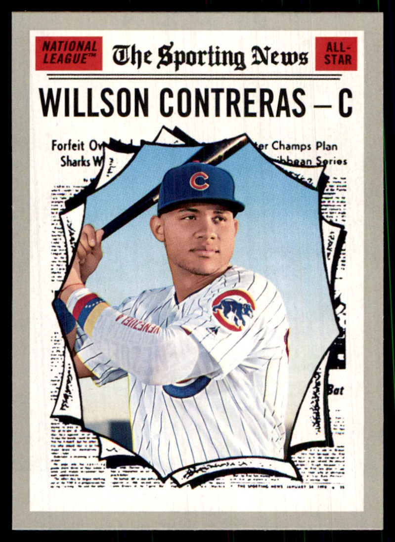 2019 Topps Heritage Willson Contreras #361 card front image