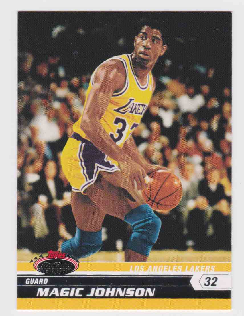 2007-08 Topps Stadium Club Magic Johnson #93 card front image