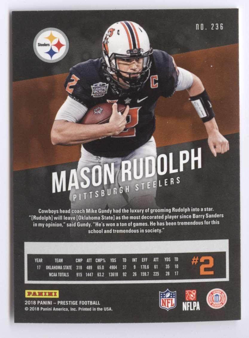 2018 Panini Prestige Mason Rudolph #236 card back image