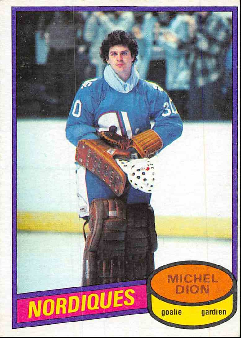 1980-81 O-Pee-Chee Michel Dion #223 card front image
