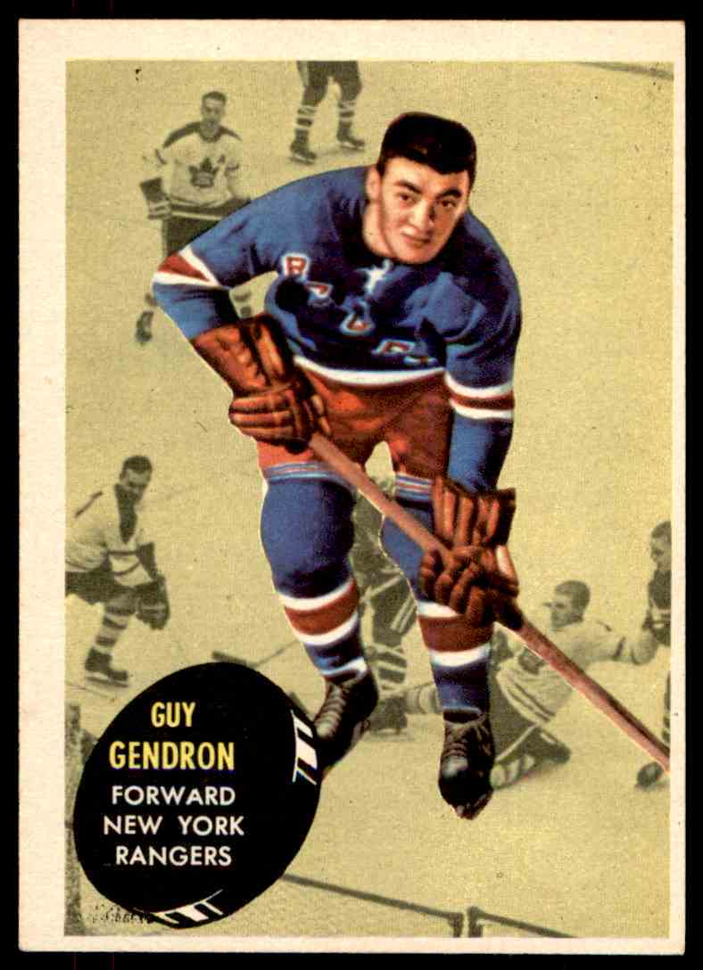 1961-62 Topps Guy Gendron #57 card front image