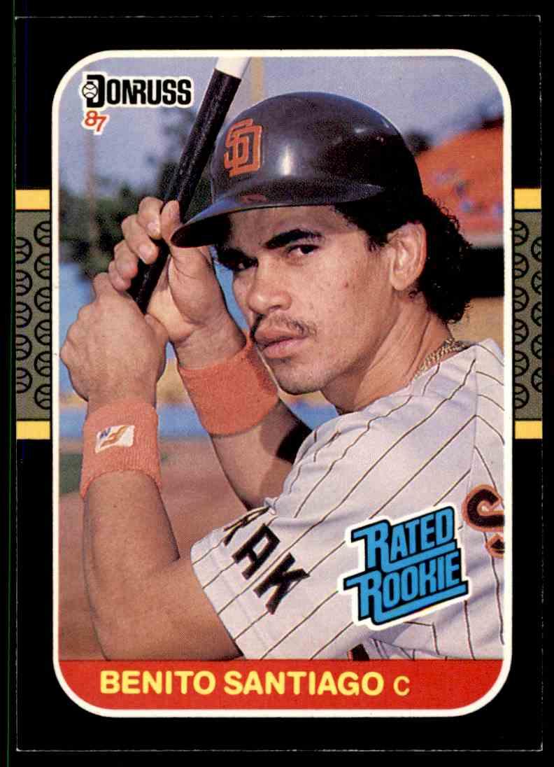 1987 Donruss Benito Santiago #31 card front image