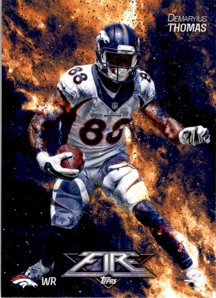2014 Topps Fire Demaryius Thomas #10 card front image