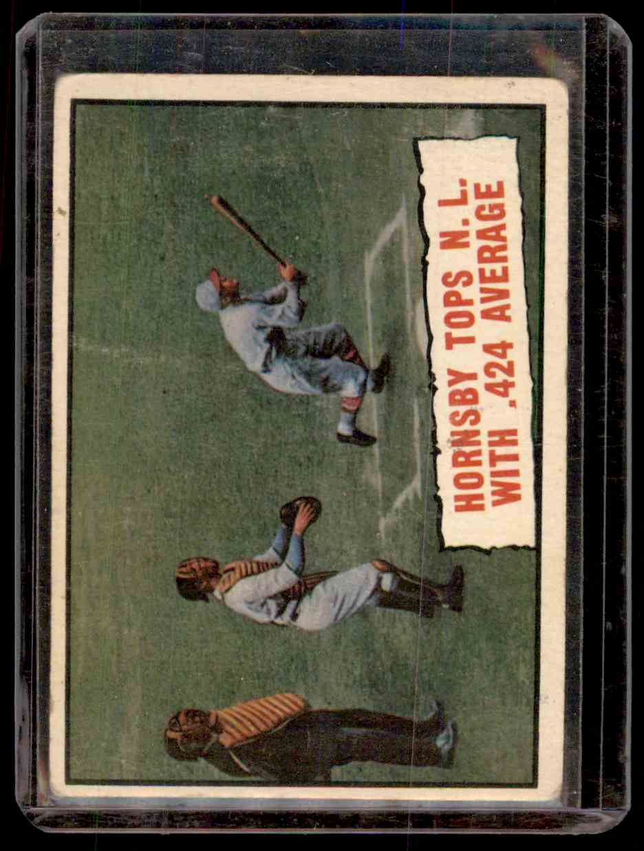 1961 Topps Rogers Hornsby #404 card front image