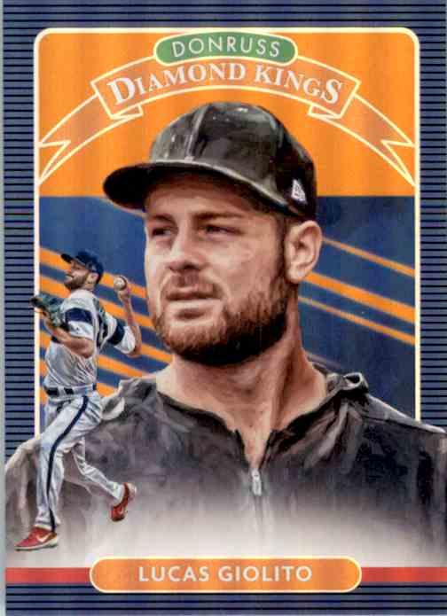 2020 Donruss Holo Orange Lucas Giolito Dk #12 card front image