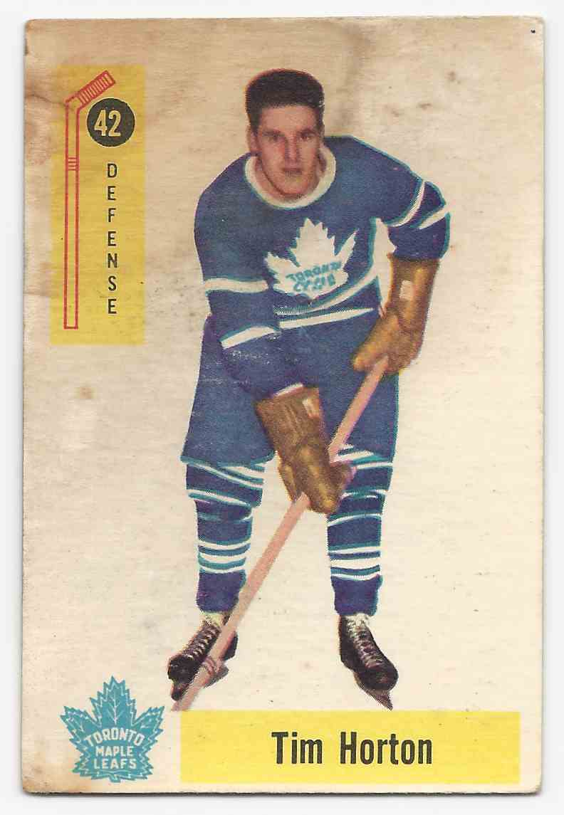 1958-59 Parkhurst Tim Horton #42 card front image