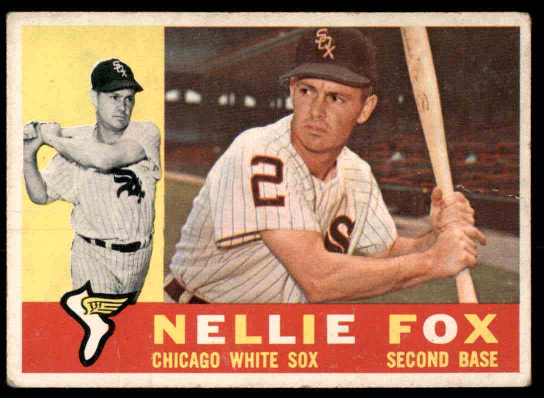 1960 Topps Nellie Fox #100 card front image