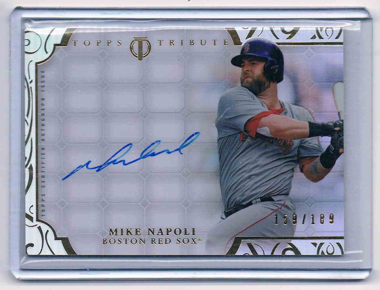 2015 Topps Tribute Mike Napoli #TA-MN card front image