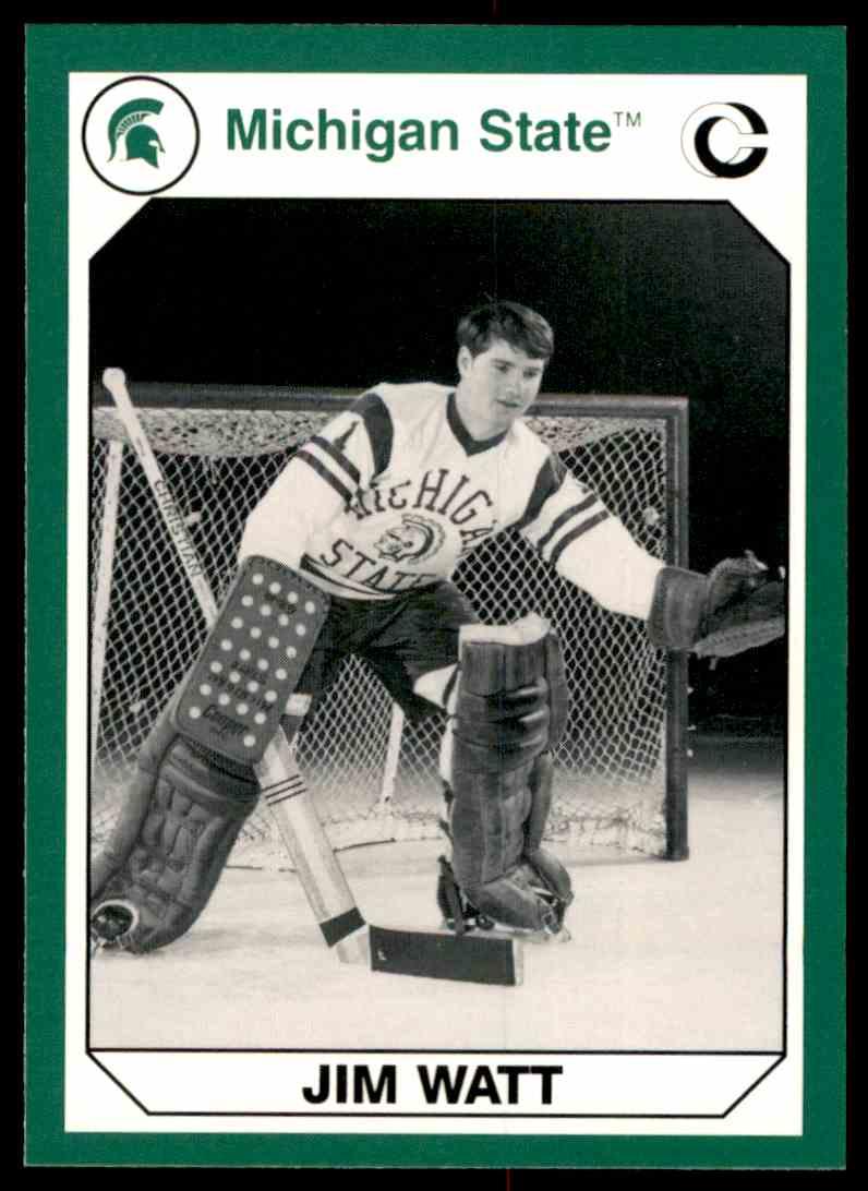 1990-91 Michigan State Collegiate Collection 200 Jim Watt #127 card front image